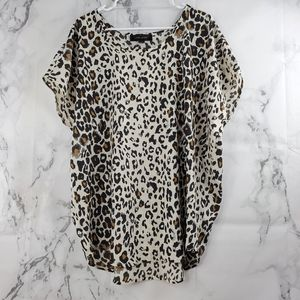 Larry Levine Animal Print Blouse